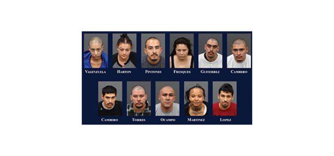 Drugs, Guns, and Money – 11 Arrested in Illegal-Gambling Operation Shut-Down at Apartment