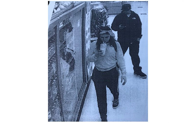 Thieving pair caught on camera, arrested