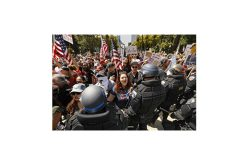 'Freedom' protest against coronavirus orders leads to arrests at California Capitol