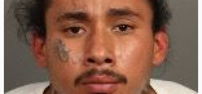 Gang Task Force Arrests Convicted-Felon Gang Member Crashing with a Loaded Firearm