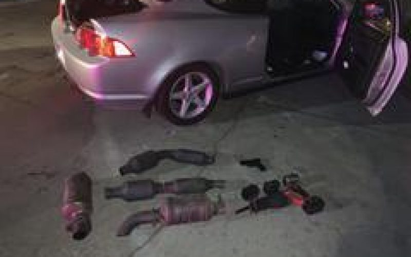 Two men Arrested for Catalytic Converter Thievery – Released at the Scene