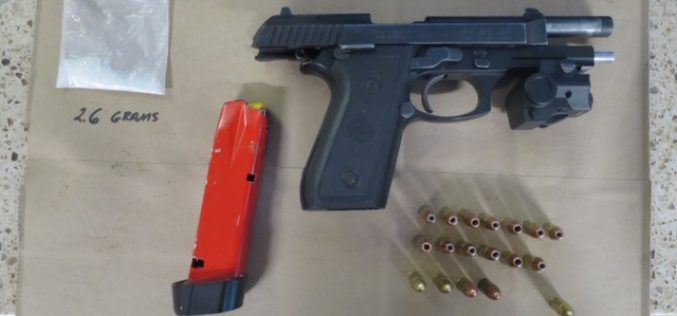 Minor traffic accident yields arrest of two for drugs, gun