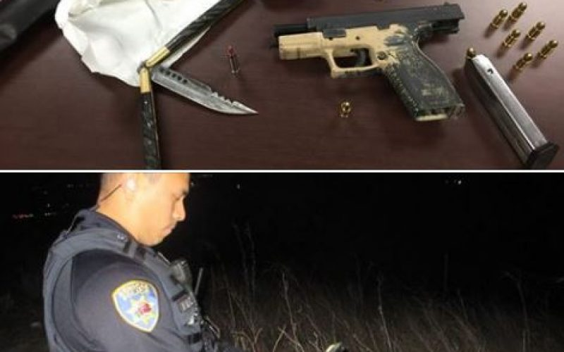 Illegally parked vehicle becomes arrest of two with stolen gun