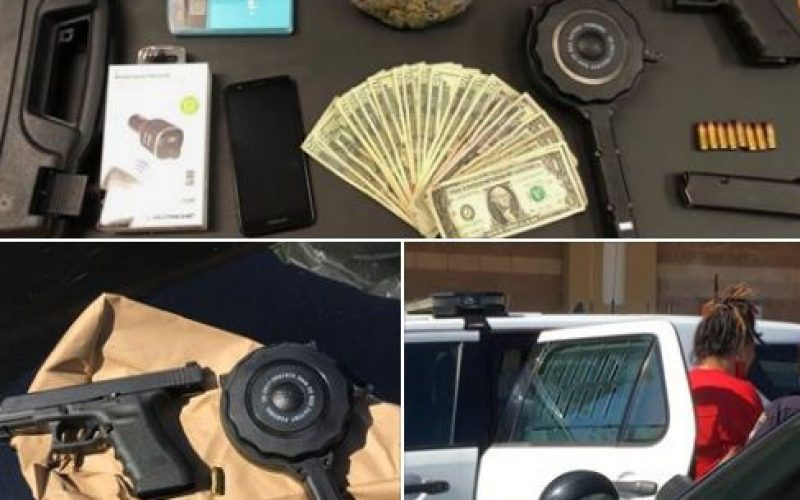 Handgun, and Meth for sale, while at a local business