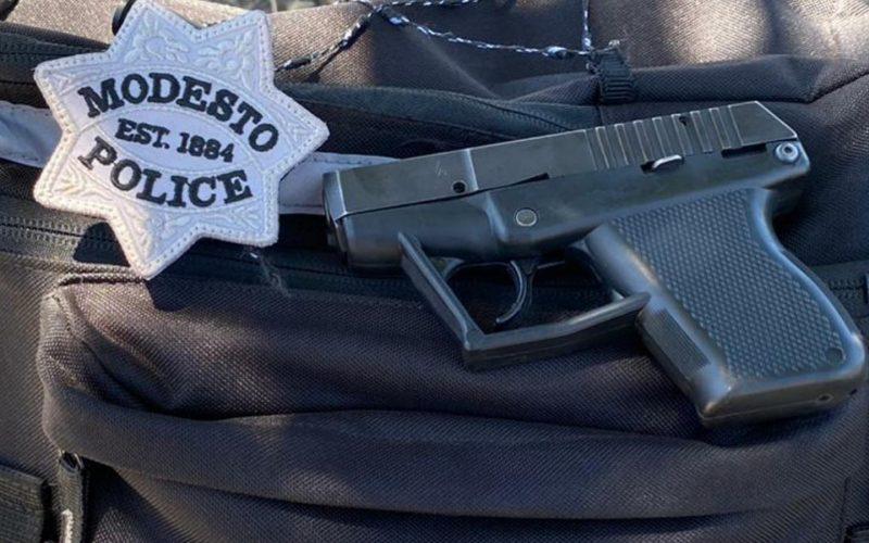 Modesto man arrested for alleged possession of stolen handgun