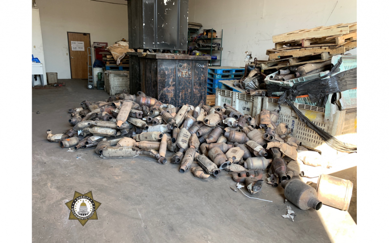 Thousands of allegedly stolen catalytic converters recovered in Elk Grove