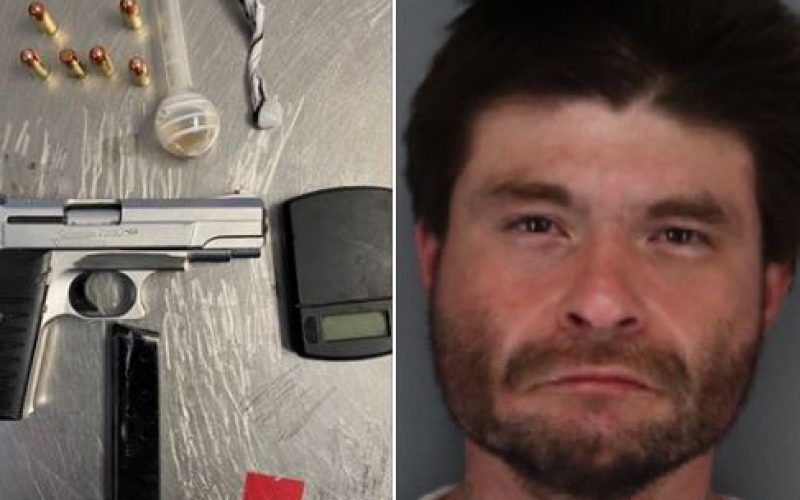 Man driving with suspended license, meth, loaded gun