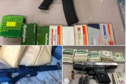 Two semi-autopmatic rifles seized and nine arrests