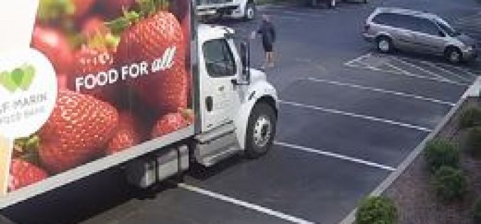 Transient in Custody Accused of Vandalizing 5 Food Bank Trucks