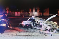 Parolee Suspect Arrested After Vehicle Pursuit Results in Three-Way Collision