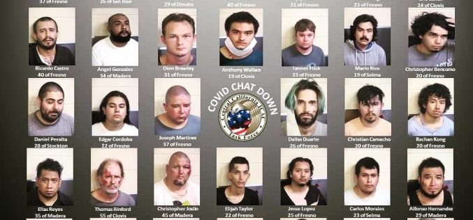 "34 Central Valley Men Arrested For Meeting ""Minors"" For Sex During Undercover Operation ""COVID Chat Down"""