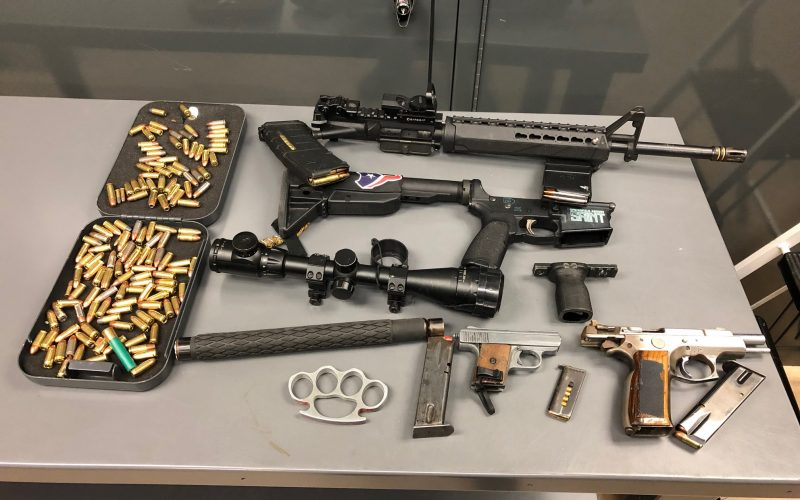 El Centro Police seize weapons in motel parking lot