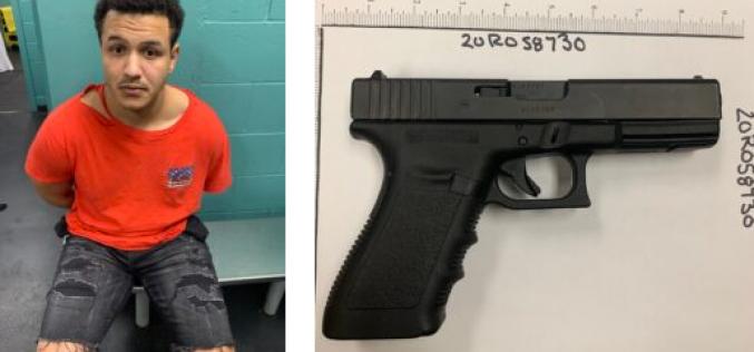 Officers seize firearm after downtown disturbance