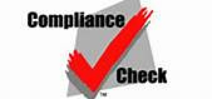 Compliance check results in Susanville