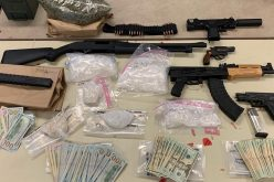 Three arrested for drugs and gun charges