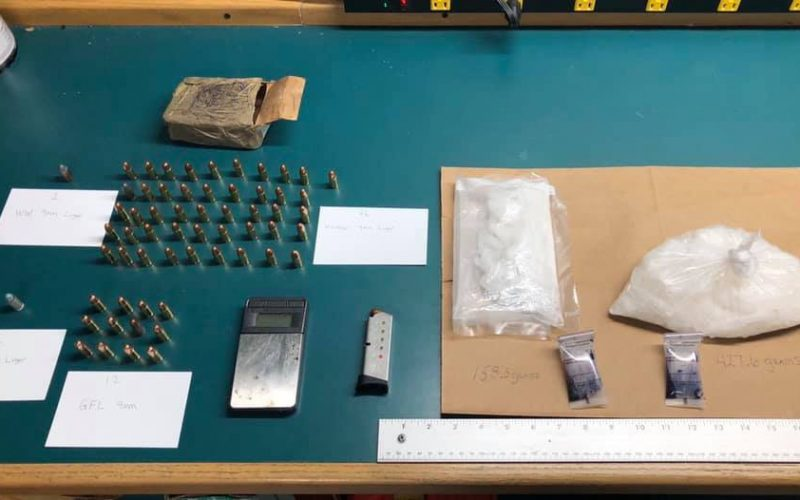 Probation compliance check reveals ammo and meth