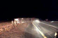 Driver arrested in big-rig rollover
