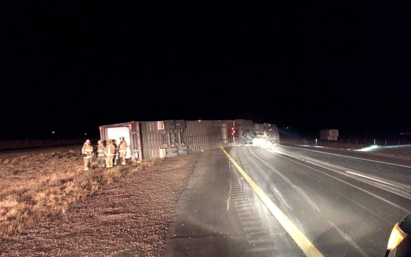Driver arrested in big-rig rollover