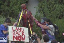 4 Women Arrested for Vandalizing a Statue of Junipero Serra