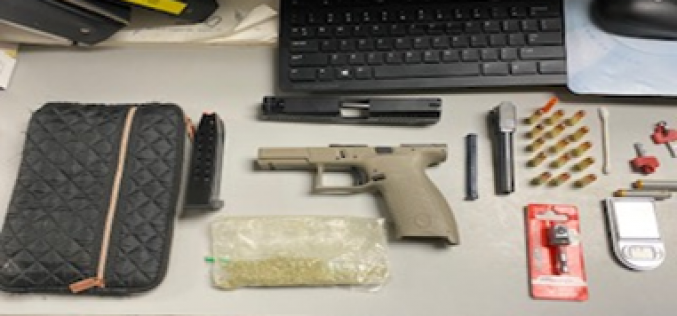 Border Patrol Intercepts Stolen Vehicle, Agents Seize Loaded Weapon and Drugs from Convicted Felon