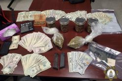 Vehicle stop, foot chase, arrest of two