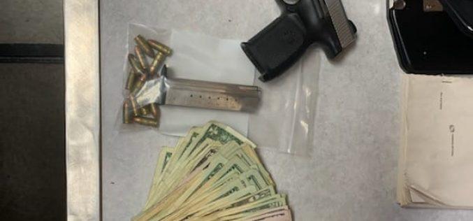 Suspicious acting man has loaded gun and meth
