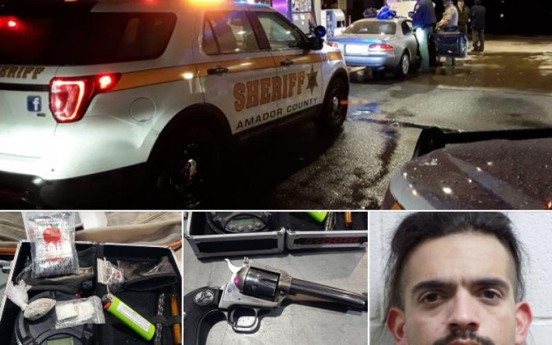 Felon drives with loaded pistol, drugs