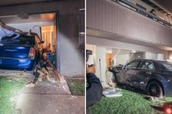 DUI driver crashes into an apartment