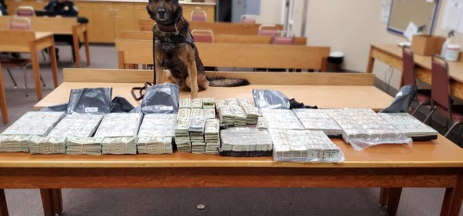 Merced CHP K-9 Officer Beny finds over $1M in suspected drug money during traffic stop