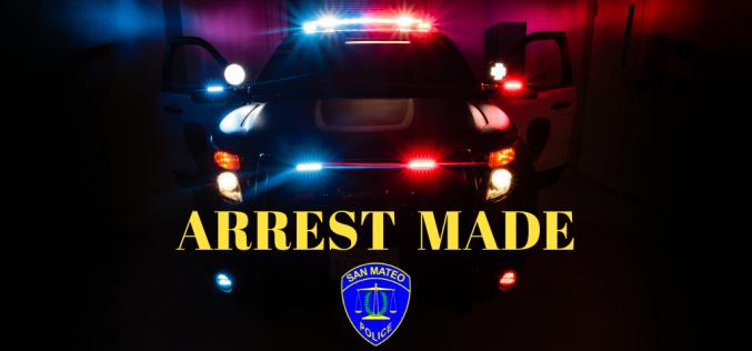San Mateo Police arrest burglary suspect during traffic stop