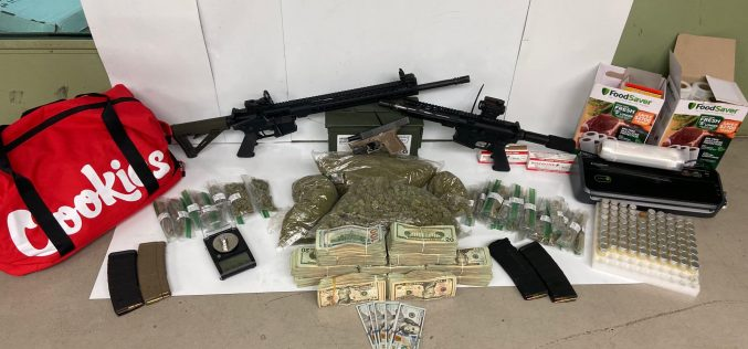 Disturbance call leads to arrest of 2 for drugs, guns