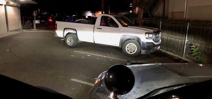 Man parked in Davis in truck stolen from Fairfield