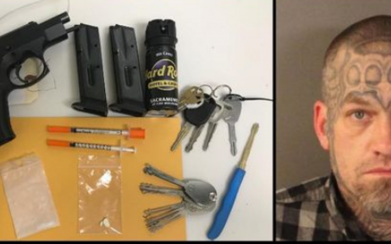 Man driving with three outstanding warrants, drugs, gun