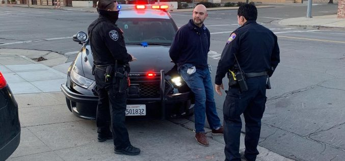Salinas Police officers detain man with gun tucked into his waistband in public