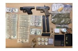 Hollister Police: Traffic stop leads to discovery of guns and narcotics