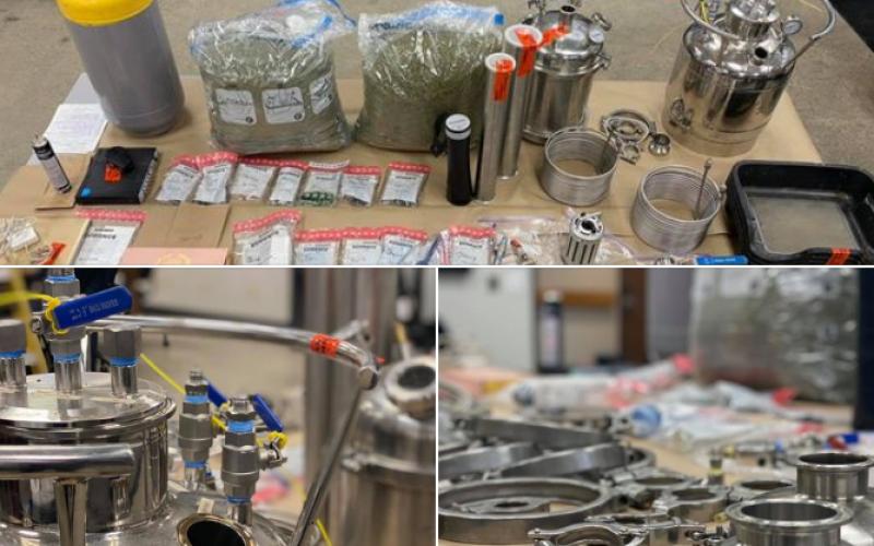 Search warrant unveils honey oil lab
