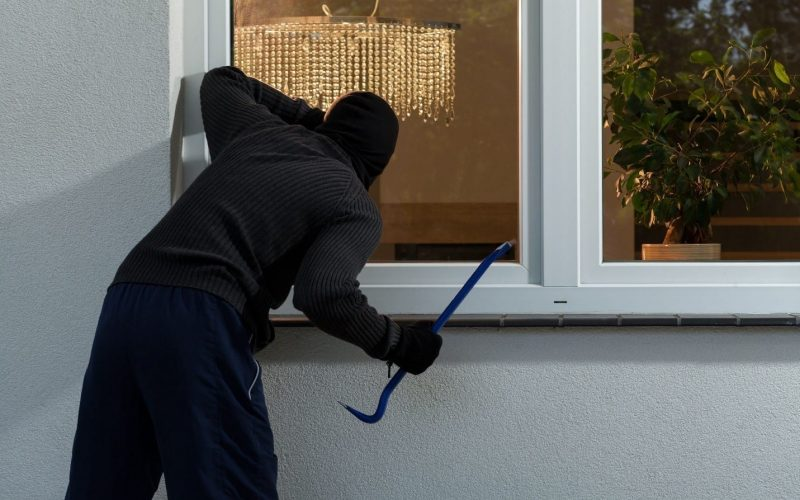 Man breaks into house where two were watching TV