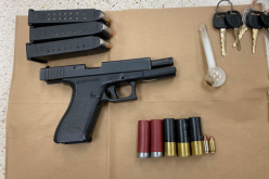 Driver and his lady companion arrested for gun possession