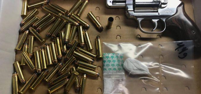 Business burglaries lead to two arrests, stolen firearm