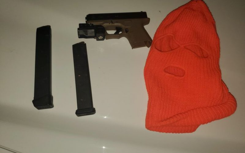 Parolee Sex Offender Arrested for Carrying a Loaded Semi-Automatic Pistol