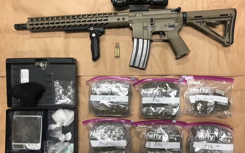 Firearm and Assault arrest after vandalism investigation