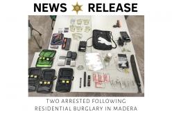 Madera County deputies reportedly interrupt burglary-in-progress