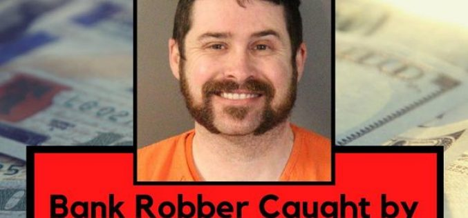 Bank robber walks out, is immediately arrested