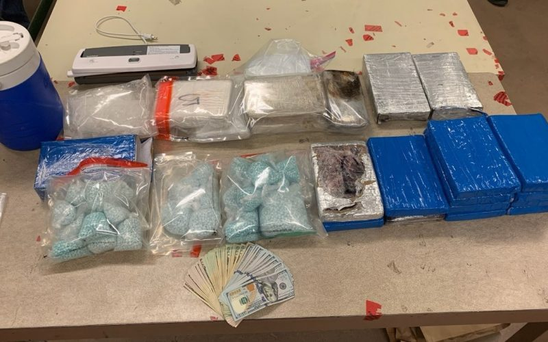 Sheriff's Office: Man and juvenile arrested on narcotics charges after thousands of fentanyl pills discovered during traffic stop