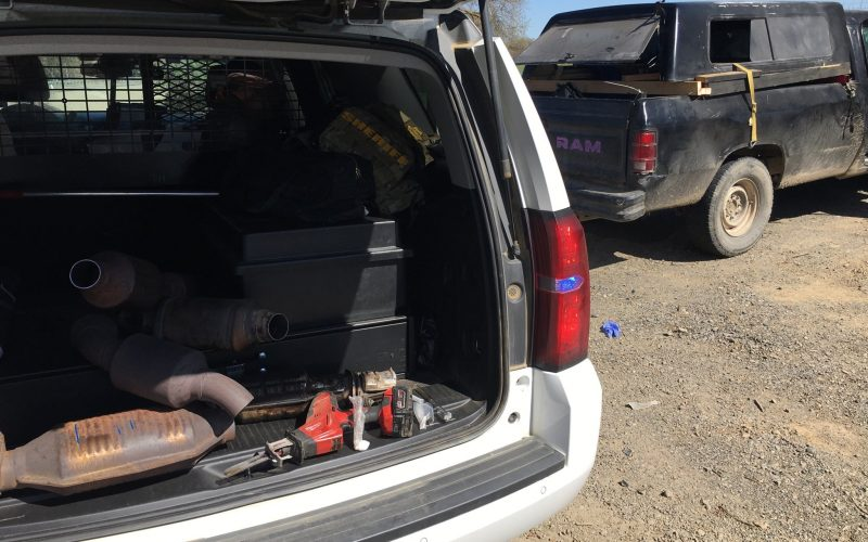 Trio arrested attempting to break into parked car