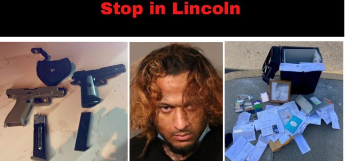 Replica firearms, stolen mail, other items found during traffic stop in Lincoln