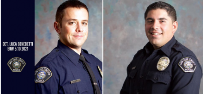 SLO POLICE DETECTIVE LUCA BENEDETTI IDENTIFIED AS OFFICER KILLED IN THE LINE OF DUTY