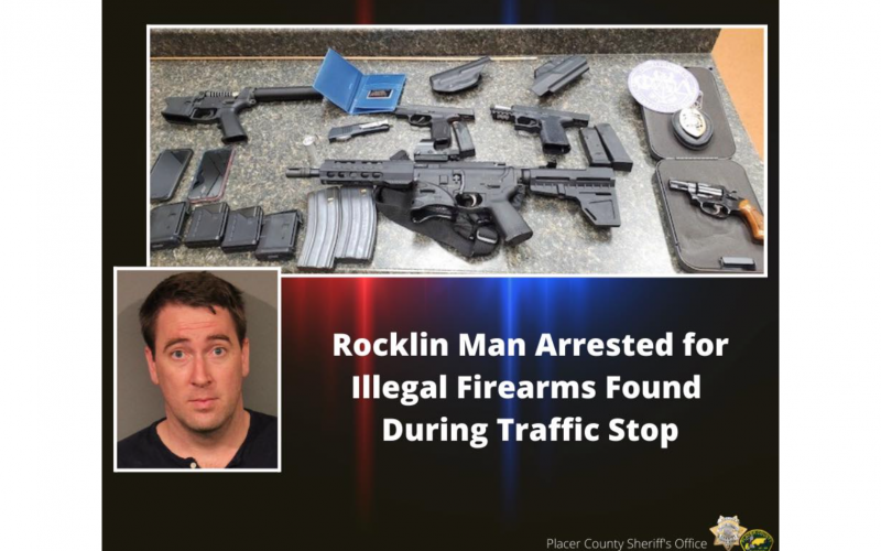 Placer County Sheriff: Rocklin man arrested on suspicion of fraud, narcotics and weapons charges
