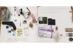 Multiple people arrested for probation violation; weapons and narcotics found