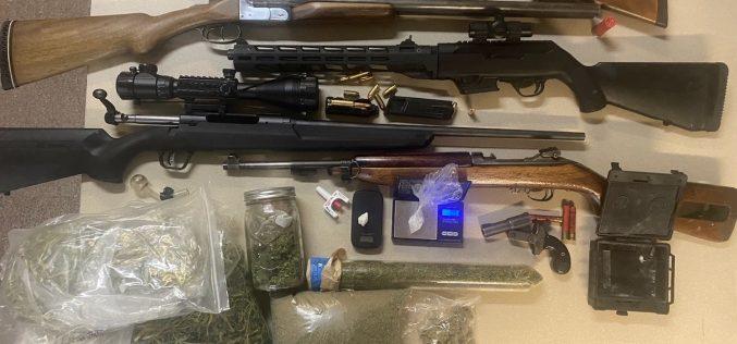 Meth on hand, cannabis and guns at home